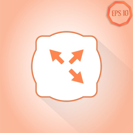 groupware: Tres flechas. Se�al de direcci�n. Estilo Dise�o plana. Made in vector