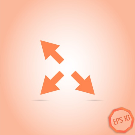 groupware: Three arrows. Direction sign. Flat Design Style. Made in vector Illustration