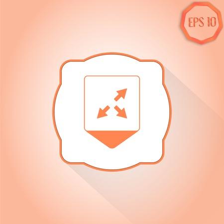 groupware: Puntero Mapa - tres flechas. Se�al de direcci�n. Estilo Dise�o plana. Made in vector Vectores