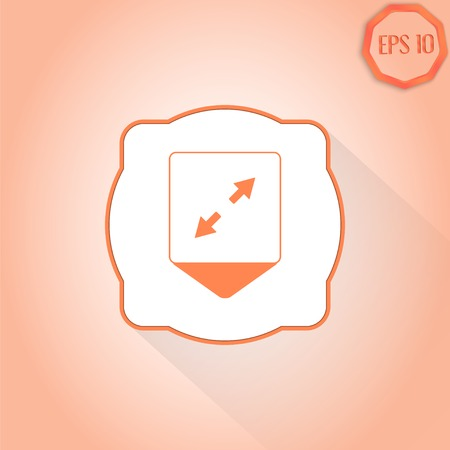 two arrows: Map pointer - two arrows. Direction sign. Flat design style. Made in vector Illustration