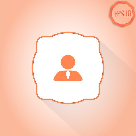 business person: Business person, People icon. Flat design style. Made in vector