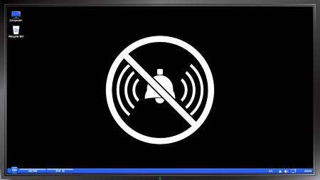 ringer: Turn off phone ringer icon on the screen monitor. Made vector illustration Illustration