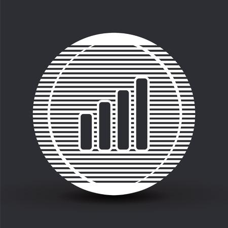 mobil phone: Signal strength indicators. Flat design style.  Illustration