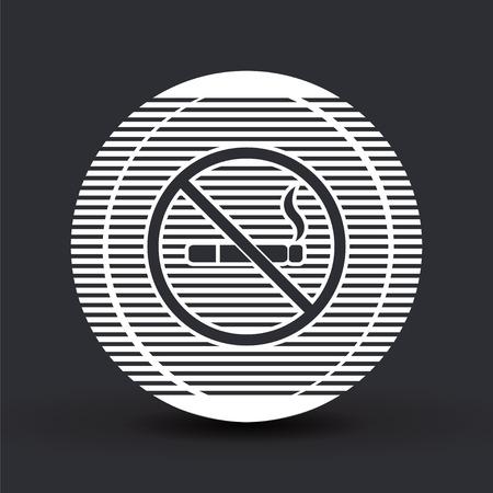 pernicious habit: No smoking sign. Flat design style.