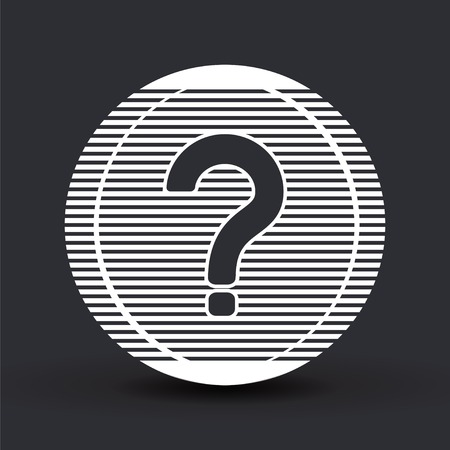 Question mark. Flat design style.  Vector