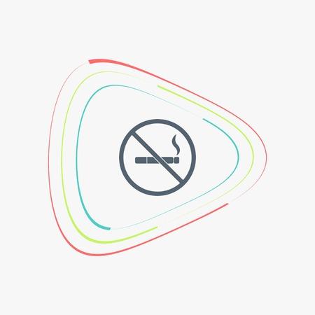 smoldering: No smoking sign. Flat design style.
