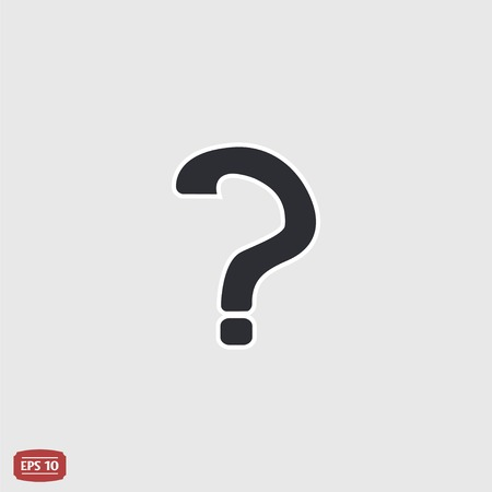 Question mark. Flat design style.