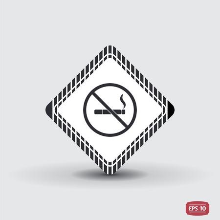 smoldering: Nessun segno di fumare. Appartamento stile di design. Vettoriali