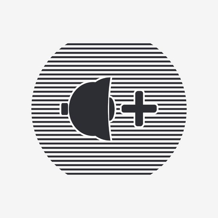 specular: Icon speaker louder. Flat design style. Specular reflection