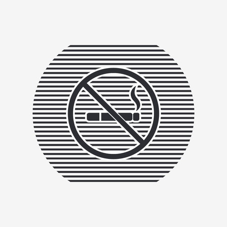 abstain: No smoking sign. Flat design style