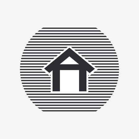 main entrance: Home icon. Flat design style. Made vector illustration