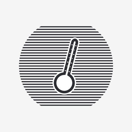 volumetric flask: Thermometer icon. Flat design style. Made vector illustration