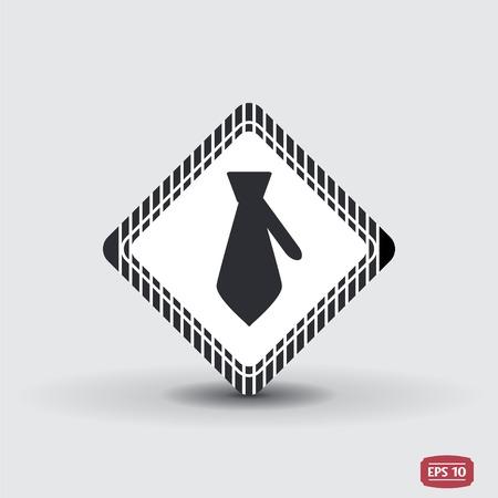 Icon necktie. Business tie. Flat design style. Made vector illustration Illustration