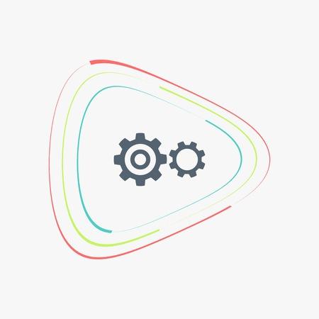Tandrad en ontwikkeling icoon. Platte design stijl. Gemaakt vector illustratie
