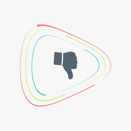 thumb down icon: Hand with thumb down icon. Flat design style. Made vector illustration Illustration