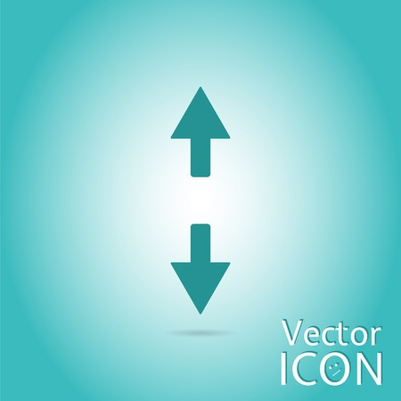 back and forth: Two arrows. Sign of the back and forth. Flat design style. Made in vector