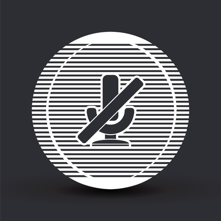entertaining presentation: Icon Microphone Against. Flat design style. Made in vector