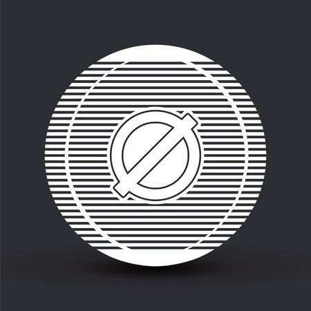 abstain: Not Allowed Sign. Flat style. Made in vector Illustration