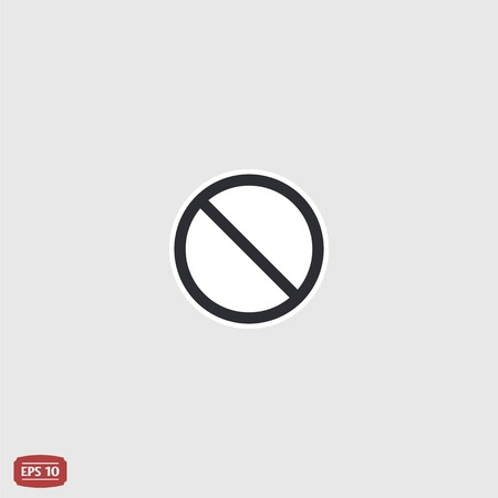 single entry: Not Allowed Sign. Flat style. Made in vector Illustration