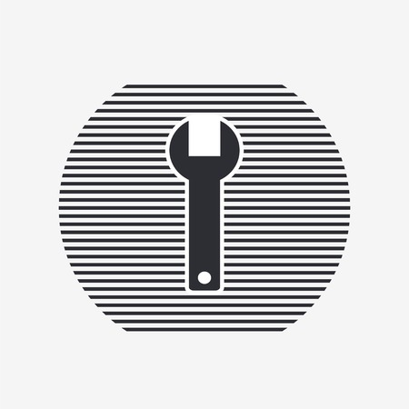 rebuild: Wrench icon. Flat design style. Made in vector