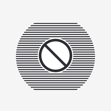 disallowed: Not Allowed Sign. Flat style. Made in vector Illustration