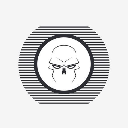 Skull - a mark of the danger warning. Made in vector Vector