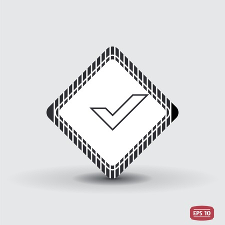 Check mark. Flat design style. Made vector illustration Vector