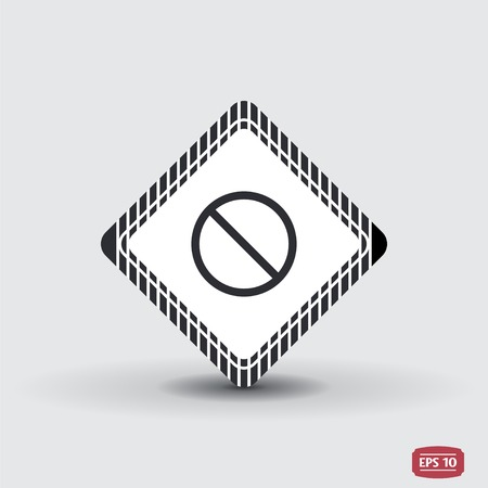 not allowed: Not Allowed Sign. Flat style. Made in vector Illustration