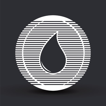 Liquid droplet icon. Flat design style. Made in vector illustration Vector