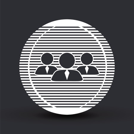 business person: Business person. People icon. Flat design style. Made in vector Illustration