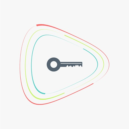 public folder: The key icon. Flat design style. Made in vector illustration