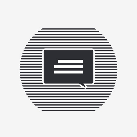 oration: Quote icon. Direct oration sign. Speech bubble symbol. Flat design style.