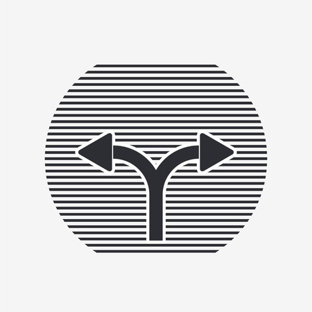 two arrows: Two arrows. Left or right direction. Flat design style.  Illustration