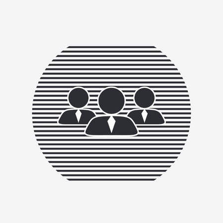 business person: Business person. People icon. Flat design style.