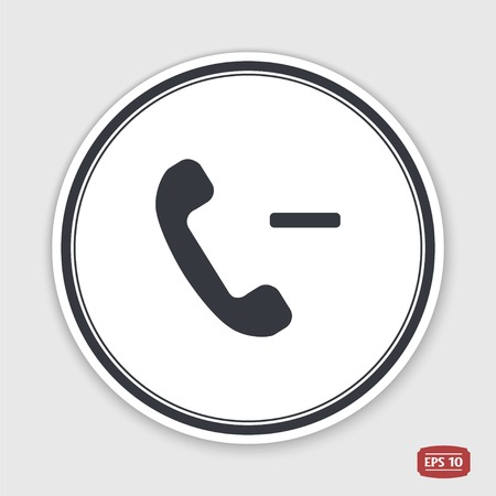 call button: Call Button. Phone Icon. Handset Icon. Flat design style. Made vector illustration.