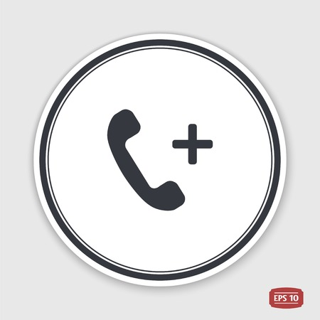 clientele: Call Button. Phone Icon. Handset Icon. Flat design style. Made vector illustration.
