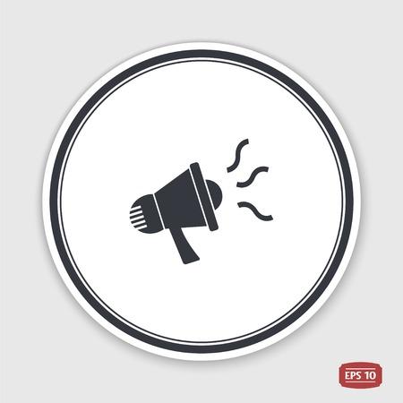 Speaker Icon. Megaphone, Loudspeaker Symbol. Flat Design Style. Made ...