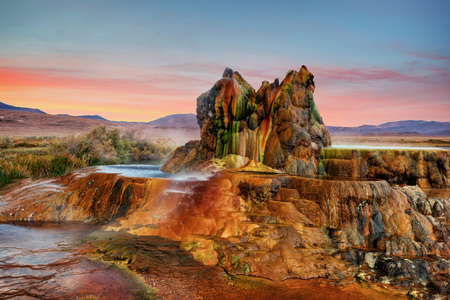 Fly Gyser Nevada Banque d'images