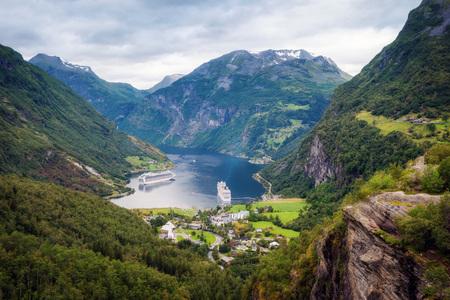 Ornesvingen-eagle Geiranger Norway taken in 2017 Stock Photo