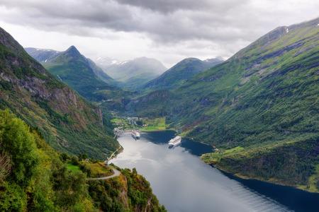Ornesvingen-eagle Geiranger Norway taken in 2017 Reklamní fotografie