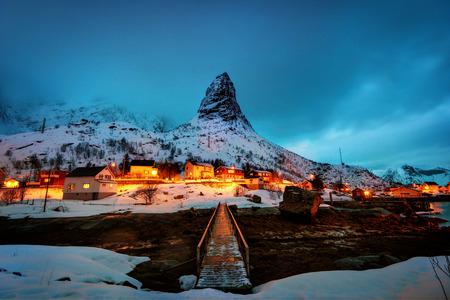 A Snowy Night in Reine taken in 2016