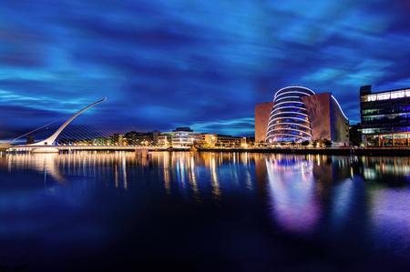 サミュエル ・ ベケット橋ダブリン アイルランド 2015 年に撮影 写真素材