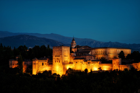 Alhambra of Granada taken in 2015 Editorial