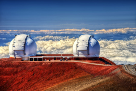 Mauna Kea Observatories Hawaii taken in 2015 Stock fotó - 94585336