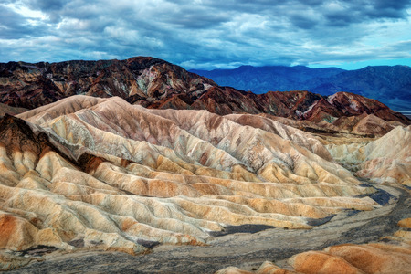 Death Valley Zabriski Point taken in 2015 Banco de Imagens
