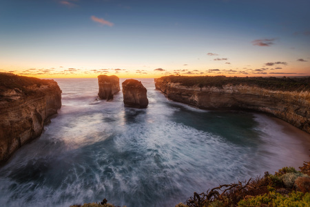 Great Ocean Road Victoria Australia Island Arch taken in 2015 Stock Photo