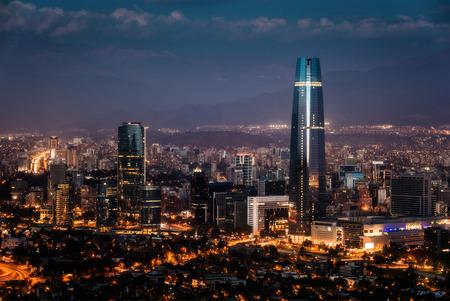 Santiago de Chile Skyline 스톡 콘텐츠