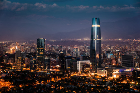 Santiago de Chile Skyline Archivio Fotografico