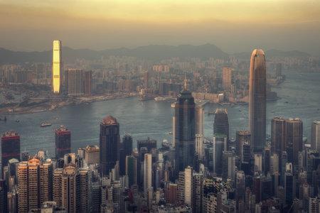 Hong Kong Skyline from Victoria Peak taken in 2014