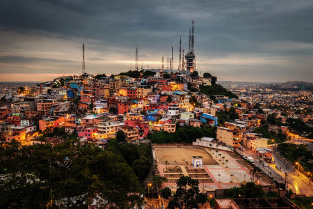 Santa Ana Hill Guayaquil taken in 2015 Stock Photo